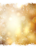 Gold Christmas background. EPS 10. Gold Christmas background with snowflakes. Illustration for Christmas posters, icons, greeting cards, print and web projects Royalty Free Stock Photography
