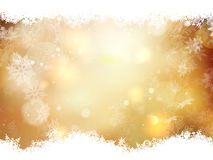 Gold Christmas background. EPS 10. Gold Christmas background with snowflakes. Illustration for Christmas posters, icons, greeting cards, print and web projects Royalty Free Stock Image