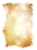 Gold Christmas background. EPS 10 Royalty Free Stock Photos