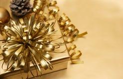 Gold Christmas background Stock Photo