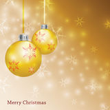 Gold Christmas Background - Illustration Stock Photography