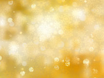 Gold Christmas background with snowflakes. EPS 8 Stock Photo