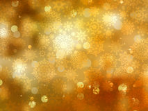 Gold Christmas background with snowflakes. EPS 8 Stock Photography
