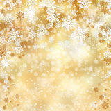Gold christmas background Royalty Free Stock Photography