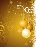 Gold christmas background / vector illustration royalty free illustration