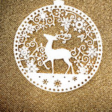 Gold Christmas background with white Christmas Ornament. Holiday Stock Photos