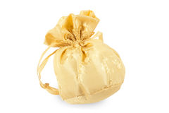 Gold christmas bag Royalty Free Stock Photo