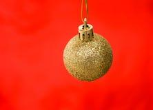 Gold christmas ball Stock Image