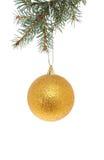 Gold Christmas ball Stock Images