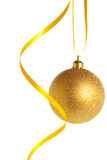 Gold christmas ball Royalty Free Stock Photo