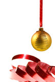 Gold Christmas ball Royalty Free Stock Photos