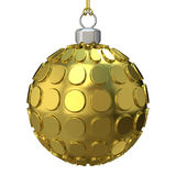Gold Christmas ball. 3D render Royalty Free Stock Image