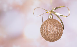Gold Christmas Ball Stock Photo