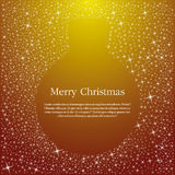 Gold Christmas ball illustration Royalty Free Stock Photo