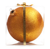 Gold Christmas Ball (Isolated) Stock Photos