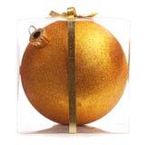 Gold Christmas Ball (Isolated) Stock Photos