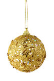 Gold christmas ball isolated Stock Photos