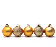 Gold christmas ball isolated on white background Stock Photo