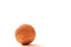 Gold christmas ball. Nice christmas ball on white background Stock Photo