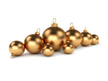 Gold Christmas ball Royalty Free Stock Image