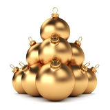 Gold Christmas ball Royalty Free Stock Photos