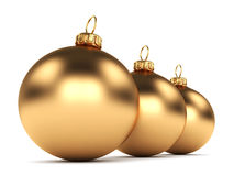 Gold Christmas ball Royalty Free Stock Images