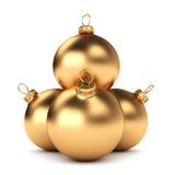 Gold Christmas ball Stock Photography