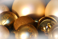 Gold Christmas balls stock illustration