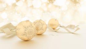 Gold Christmas Balls Background Royalty Free Stock Photo