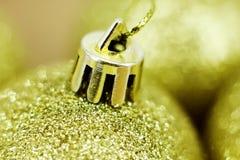 Gold Christmas balls Royalty Free Stock Image