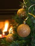 Gold Christmas Balls Stock Image
