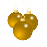 Gold Christmas balls Stock Images