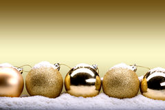 Gold Christmas banner Stock Photography