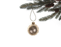Gold Christmas bauble Royalty Free Stock Image