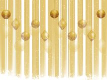 Gold Christmas bauble background Royalty Free Stock Photos
