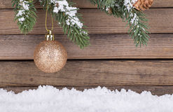 Gold Christmas Bauble Stock Images