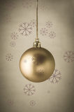 Gold Christmas Bauble with Snowflakes Royalty Free Stock Photo