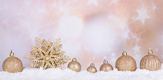 Gold Christmas Bauble and Star Stock Images