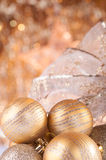 Gold christmas baubles Royalty Free Stock Photography