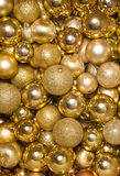 Gold christmas baubles abstract Royalty Free Stock Photography