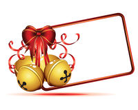 Gold christmas bells isolated  Royalty Free Stock Photography