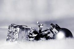 Gold christmas bokeh Stock Photography
