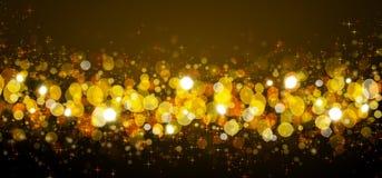 Gold Christmas Bokeh background. Defocused bokeh lights. Golden Christmas Bokeh background Vector Illustration
