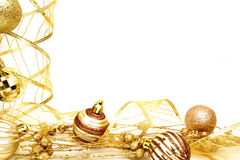 Gold Christmas border Royalty Free Stock Image