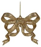 Gold Christmas bow decoration Royalty Free Stock Photography