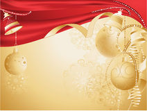 Gold christmas card Stock Photography