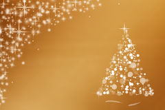 Gold Christmas Card Royalty Free Stock Images