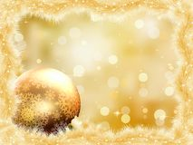 Gold christmas card with copy sace. EPS 8 Royalty Free Stock Image