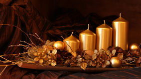 Gold Christmas decoration Stock Photos