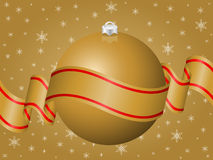 Gold Christmas decoration. Background. Vector illustration Royalty Free Stock Photo